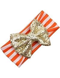 Sanwood® Mignon pour Bébé Fille Enfant à Rayures à paillettes bandeau bandeau