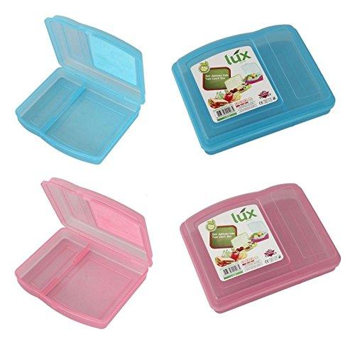 Preisvergleich Produktbild 4-Fach Brotdose Brotbox Lunchbox Frühstücksbüchse Pausenbrotdose Brotzeitdose Dose (Rosa)