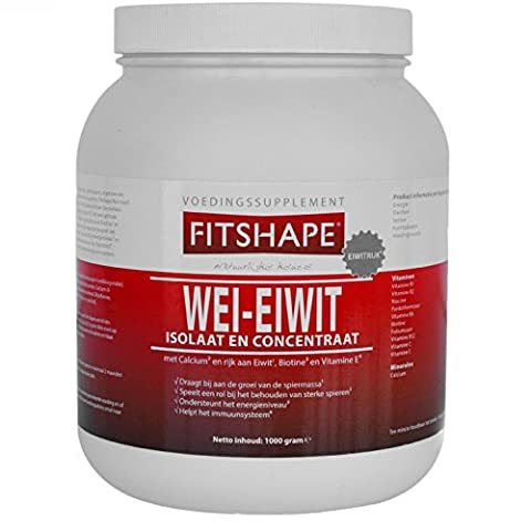 Vanilla Whey Protein Powder Isolate with an Amazing Taste – for Muscle Building – Fast Recovery – Great for Weight Loss and Bodybuilding – Low Carb, Low Calorie and Sugar Free, Suitable for Women and Men (1000 gram) from FITSHAPE