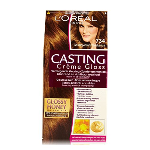 L'Oréal Paris Casting Crème Gloss 734Miel Crumble cuivre or Blond–Coloration moyens