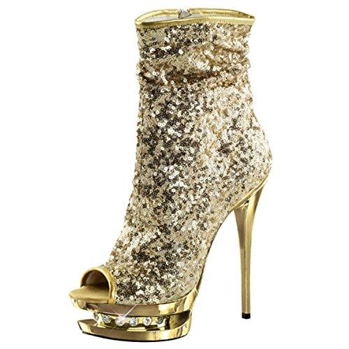 Pailletten High Heels Gold