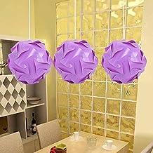 DIY Lámpara Sombra Puzzle,AZXES, Lámpara de Techo del Puzzle IQ Tulipa,Lámpara colgante Moderno del Diametro 30cm,Color Lila
