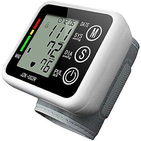 Tensiómetro Muñeca Toprime- 002 Patrón de Voz Almacenados Datos Monitor Muñeco de Presion Arterial Carga Automática Regalar una Caja de Plástico
