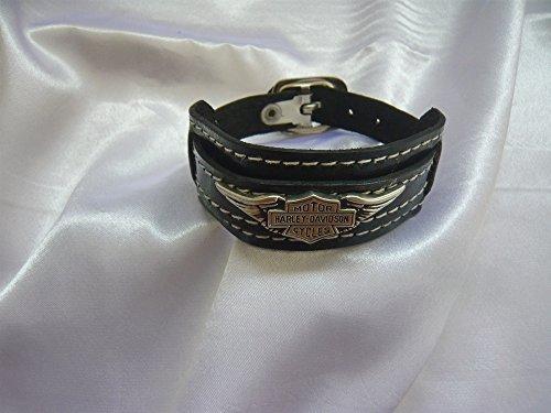 armband-harley-davidson-button-emblem-shield-logo-motorrad-bike-leder-sticker-schmuck