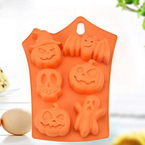 Factorys Kuchenform Kreative Happy Halloween Silikon Kürbis Kuchen Silikonform Küche Backen Werkzeuge (Cupcake Kostüm Muster Für Halloween)