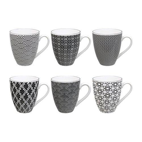 tokyo-design-studio-nippon-black-mug-with-handle-300-ml-set-of-6