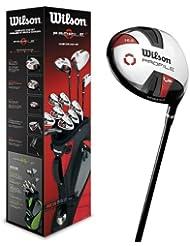 Wilson, Set completo para principiantes, 11 palos de golf con bolsa de transporte, Hombre (mano izquierda) Profile VF, Negro/Gris/Rojo, WGG157240