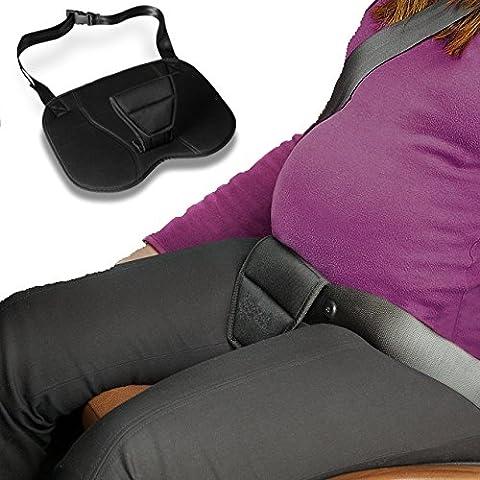 Sicherheitsgurt für Schwangere. Schützt die Mutter und das Ungeborene vor