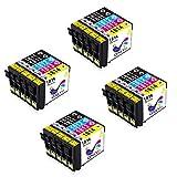 Tintenpatronen 18XL T1811-T1814 Kompatible mit Epson XP-30 XP-33 XP-102 XP-202 XP-205 XP-212 XP-215 XP-225 XP-302 XP-305 XP-312 XP-315 XP-322 XP-325 XP-402 XP-405 XP-405WH XP-412 XP-415 XP-422