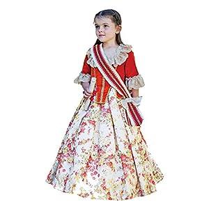 Amscan FLC6 - Vestido floral, color rojo YRS vestido, niña, no sólido, 6 - 8 años