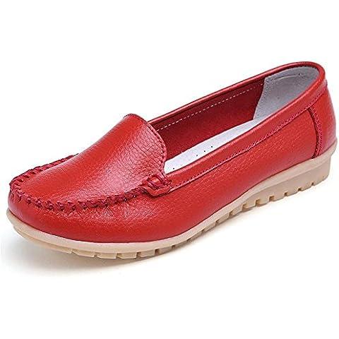 Mine Tom Mujer Chicas Moda Verano Zapatos Zapatillas De Mocasín Punta Redonda Zapatos