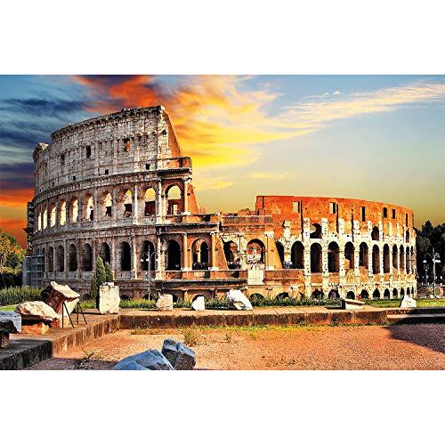 great-art XXL Poster - Kolosseum in Rom - Wanddekoration Sightseeing Städte Must See City Sehenswürdigkeit Deko Metropole Stadt Bild Wandbild Italien Motiv (140 x 100 cm)