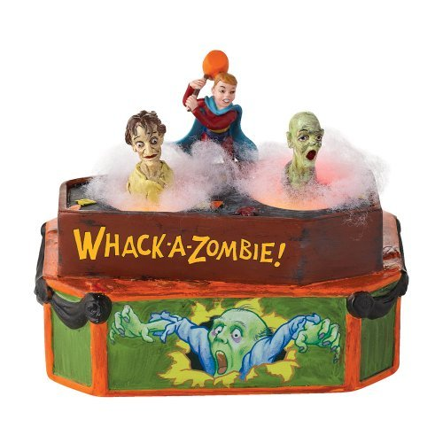 Department 56 4025395 Halloween Accessories for Dept 56 Village Collections Whack A Zombie Animated Accessory, 5.04-Inch by Department 56