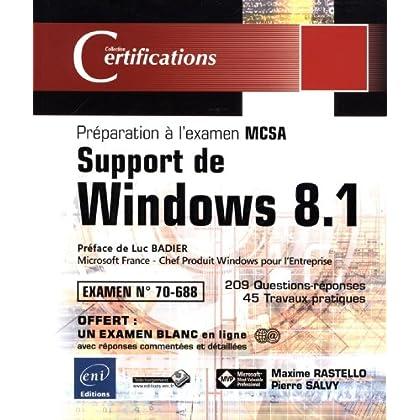 Support de Windows 8.1 - Préparation à la Certification MCSA - Examen 70-688