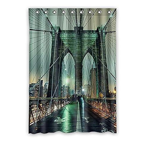 Custom New York City étanche à la lumière Tissu Polyester Rideau de fenêtre pour chambre à coucher ou salon One Piece, 132,1x 182,9cm; Environ 132cm x 183cm, polyuréthane, b, 52
