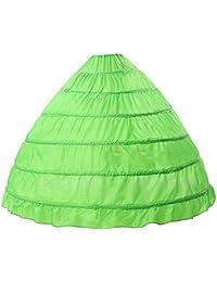 Beauty-Emily® femme long jupe mariage 6 cerceaux pour robe de mariée au sol