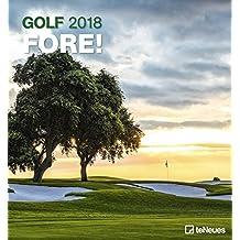 Golf 2018 - Golfkalender, Sportkalender, Landschaft - 45 x 48 cm