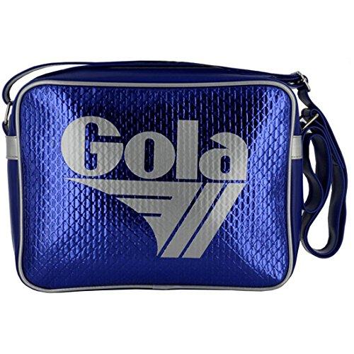 BORSA TRACOLLA GOLA midi REDFORD METALLIC EMBOSS CUB417MR DARK BLUE/SILVER cod. 15538