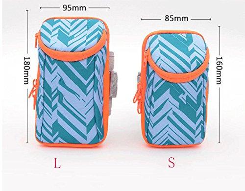 BUSL Esecuzione di borse braccio telefono braccio borsa sportiva attrezzature per il fitness pacchetto braccio manica del braccio uomini e donne borsa da polso e