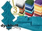 Frottiertücher der Serie Opal - erhältlich in 33 modernen Farben und 7 verschiedenen Größen -Markenqualität von Dyckhoff, 1 Pack (3 Stück) - Waschhandschuhe [16 x 21 cm], petrol