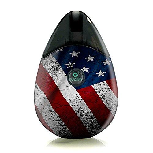 Usa Flag Kit (Skin Sticker/Skin für Suorin Drop Vape Kit/Skin/Sticker/Cover/American Flag Distressed)
