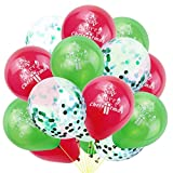 dfhdrtj world-wide 15 Pcs Merry Christmas Balloons Confetti Printed Balloons Christmas Party Festival Home Decoration(None GR)