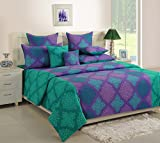 Swayam 120 TC Cotton Double Bed Sheet with 2 Pillow Covers - Floral, Blue