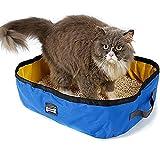 Petneces - Lettiera per gatti e animali domestici, pieghevole, portatile e impermeabile, da viaggio ed esterni