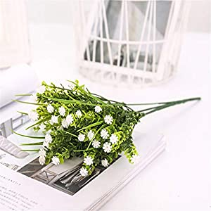 AVXZK 10 Simulationen von Rosengras, Wasserpflanzen, Horoskop, Gartenbau, Dekorationspflanzen, Wohnzimmerbalkon, dekorativen Kunstblumen, Großhandel weiß