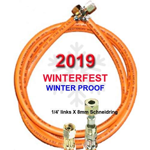 \'propano Gas de manguera fijo de invierno con 1/4x 8mm schneidri gverchraubung-y temperaturas de hasta -30°C-con texto impreso 2017