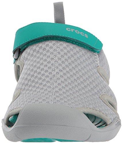 crocs Damen Swiftwater Mesh Sandals Women Geschlossene Grau (Light Grey)