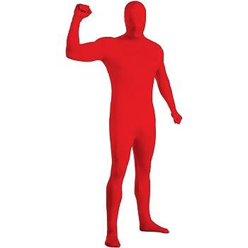 Déguisement Seconde peau rouge adulte - L - 1,60m à 1,80m