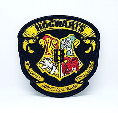 Parche bordado Harry Potter Hogwarts amarillo negro