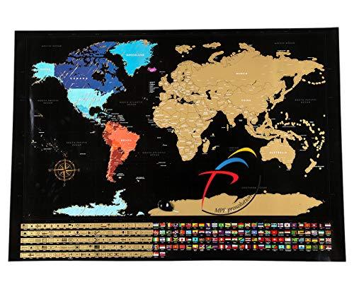 Mapa del mundo para rascar MPFpro Solution