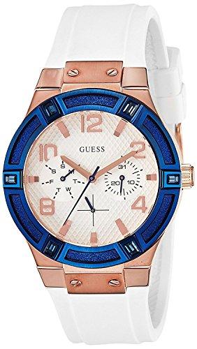 Guess Damen-Armbanduhr Analog Quarz Silikon W0564L1
