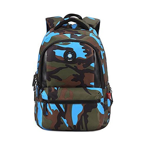 Comfysail Camouflage Printed Primary School Nylon Backpack - Ideal for 1-6  Grade School Students Boys Girls Daily Use and Outdoor Activities (Small 1c432acaadd49