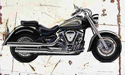 Yamaha XV1600A WildStar 1999 Aged Vintage Sign Aluminium Print A4 -