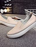 ZQ gyht mujer-tacón Schuhe plano-comfort/geschlossene Spitze/Stiefel zu moda-sneakers zu der Mode/mocasines-casual-cuero-rosa/weiß, Cremefarben US 8 / EU 39 / UK 6 / CN 39