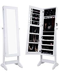 LANGRIA Schmuckschrank Spiegelschrank Schmuckregal Winkel Einstellbar Schmuckkasten (Type 2)