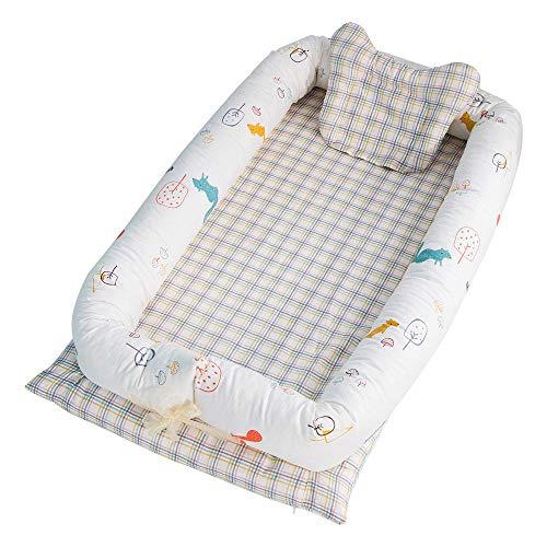 AOLVO Gartenliege, tragbar, perfekt zum Schlafen in Gesellschaft, Kuschelhöhe, Babybett und Übergang zum Bett - atmungsaktiv, ungiftig C3