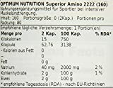 Optimum Nutrition Superiour Amino 2222-160 Tabletten, 1er Pack (1 x 170 g)