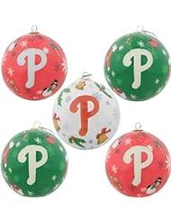 Philadelphia Phillies 5-Pack Decoupage Ball Ornement de Noël Set