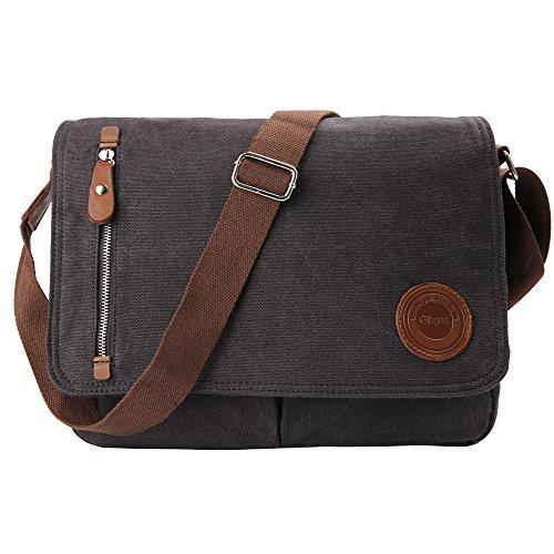Besten Laptop Messenger-taschen (Gibgas Umhängetasche Herren Laptoptasche Schultasche Schultertasche Arbeitstaschen für Herren Damen 14'' Laptop A4 Ordner Arbeit Uni Reise Sport  (Schwarz))