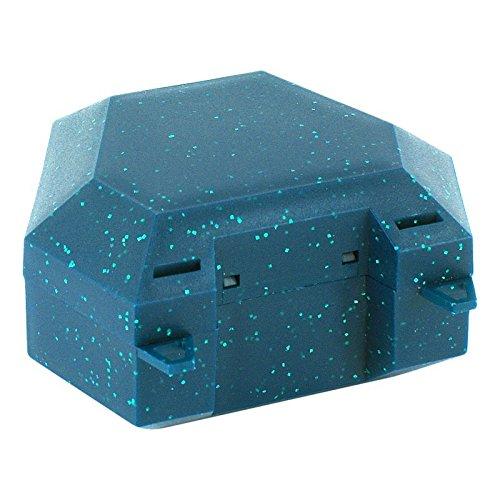 ZAHNSPANGENBOX mit Kordel grün mit Glitzer 1 St