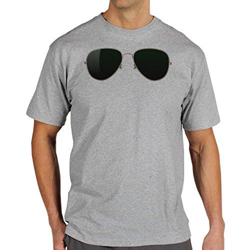SWAG Ray Bana Aviator Glasses Herren T-Shirt Grau