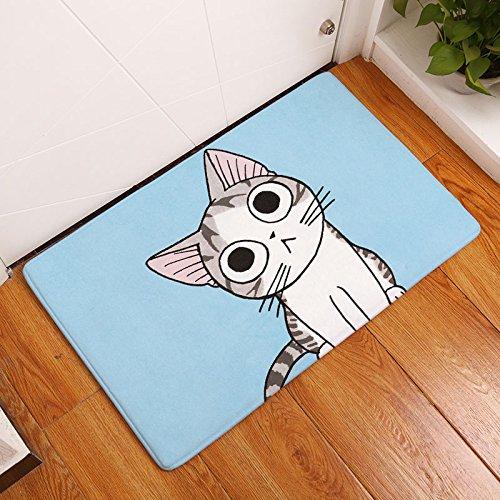 GRENSS Anti-rutsch Matte wasserdicht Cute Cartoon Kinder Tiere Katze Teppiche Schlafzimmer Teppiche dekorative Treppe Matten Home Decor Handwerk, 5.400 mm x 600 mm