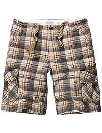 Tookang Short Rayé pour Homme Pantacourt Bermuda Décontracté À Carreaux  Mode Shorts De Plage ... 6f0c5fe77b0