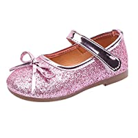 Zerototens Baby Girls Shoes,1-6 Years Old Toddler Kid Ballet Mary Jane Flat Shoes Children Bling Sequins Single Shoes Princess Dress Pink