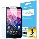 SPIGEN Google Nexus 5 Screen Protector Clear [Crystal] [3-PACK] **Base PET Film made in Japan** Premium Front Screen Protector for Nexus 5