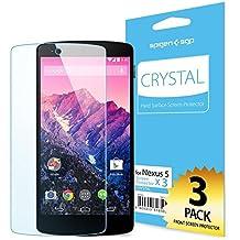 Spigen SGP10559 Nexus 5 3pieza(s) - Protector de pantalla (Nexus 5, Teléfono móvil/smartphone, Google, Transparente)